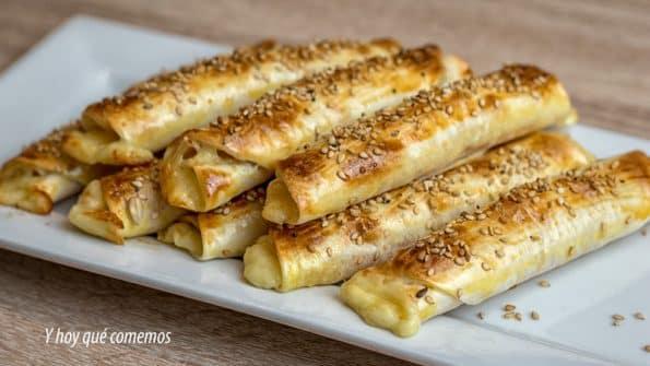 como hacer enrollados de jamón y queso fáciles y rápidos