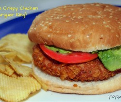 hamburguesa crispy chicken tipo burguer king