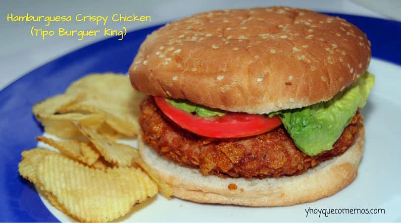 hamburguesa crispy chicken tipo burguer king