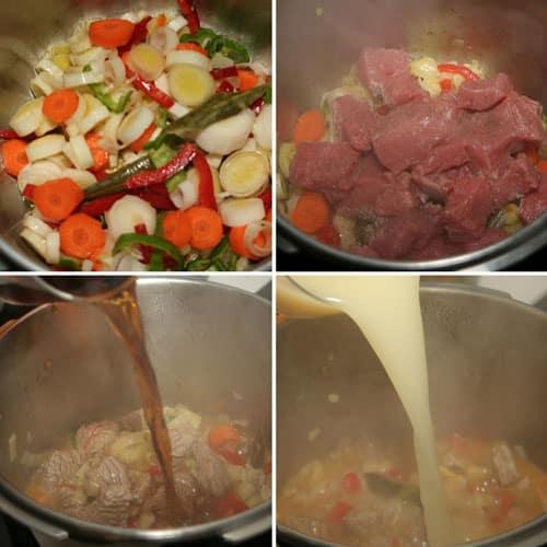 paso a paso ternera con tomate en olla rapida