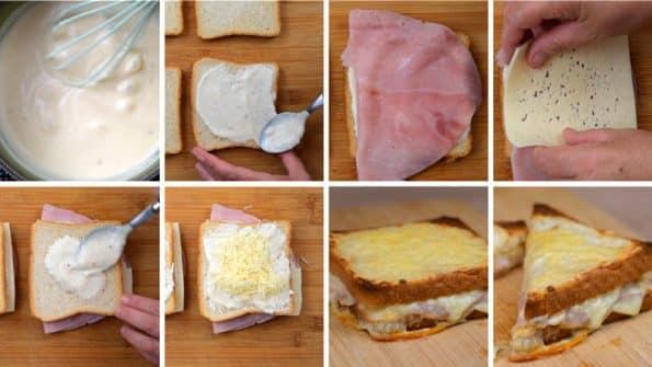 como hacer paso a paso sándwich croque monsieur
