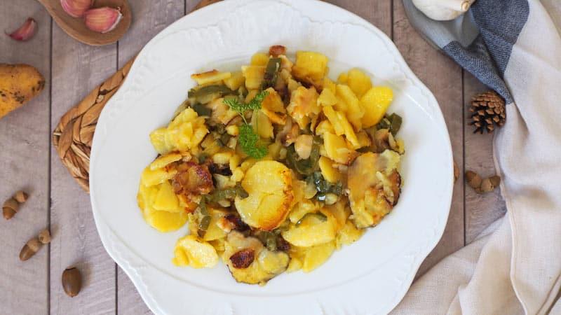 receta facil de patatas a lo pobre