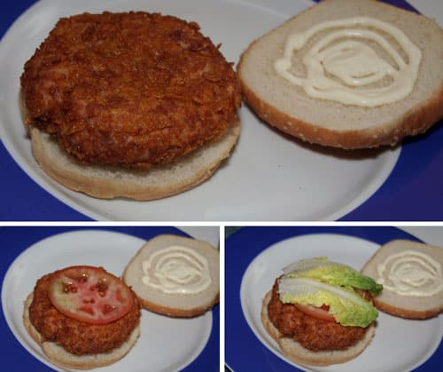 preparar-la-Hamburguesa-Crispy-Chicken-(tipo-Burguer-King)