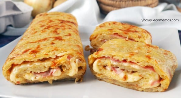 rollo salado de jamon y queso receta 2