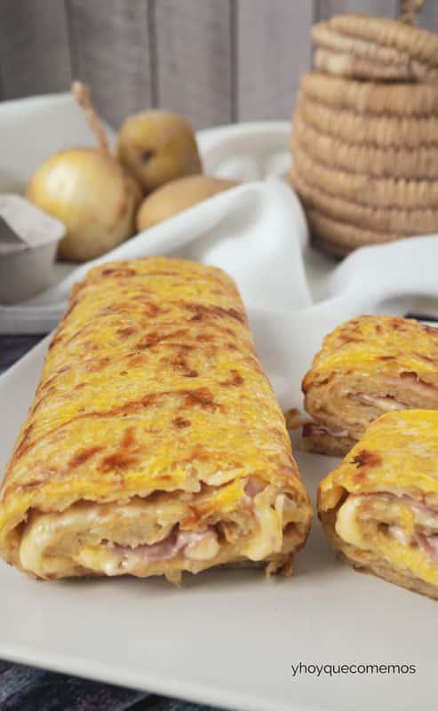 rollo salado de jamon y queso receta 3