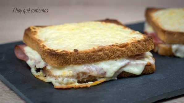 receta sándwich croque monsieur paso a paso