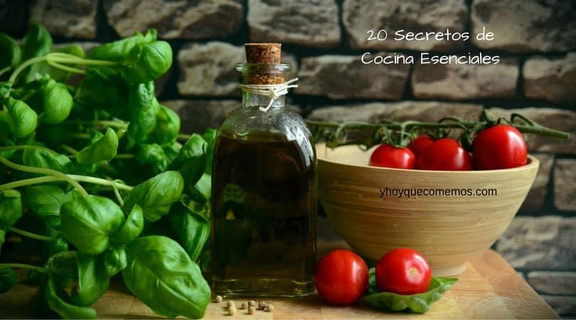 20 secretos de cocina esenciales