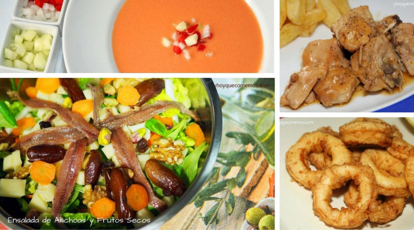 menu semanal ideas de primeros y segundos platos