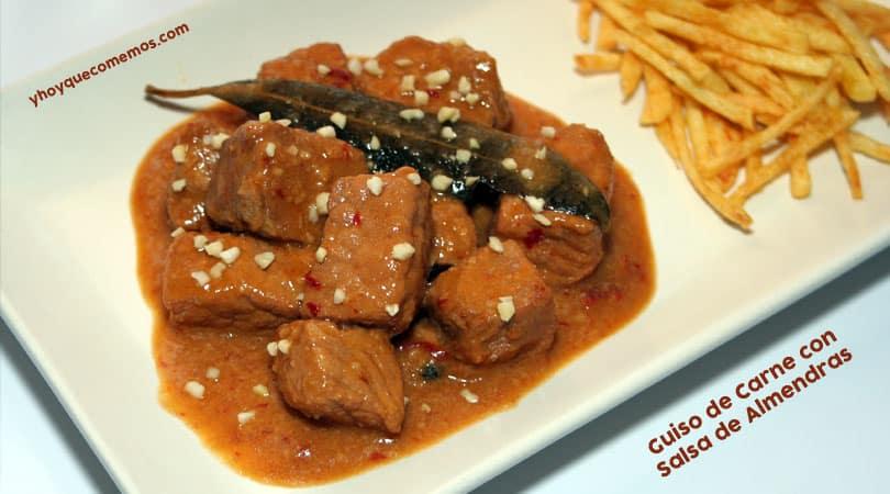 Guiso de Carne con salsa de Almendras