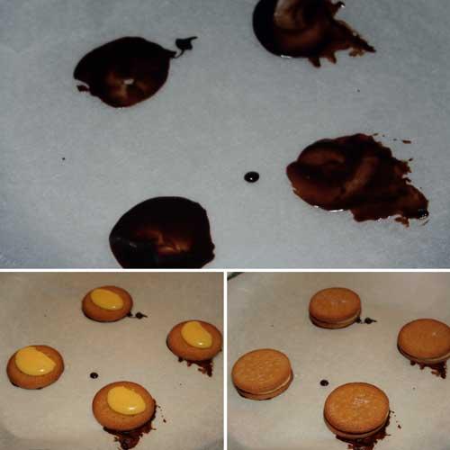 montar las tartas de galletas individuales