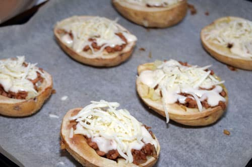 Patatas Rellenas de Carne antes del horno