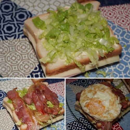 poner-huevo,-bacon-y-lechuga-al-Sandwich-Club
