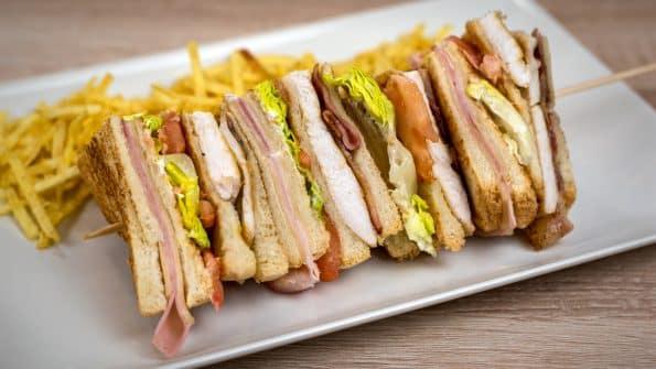 como hacer sandwich club idea de cena