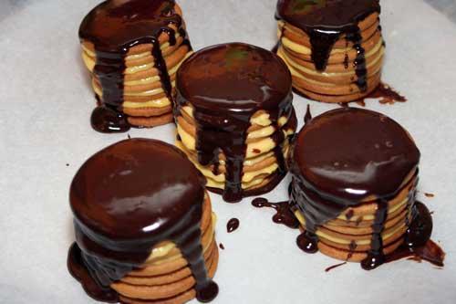 tartas de galletas individuales terminada