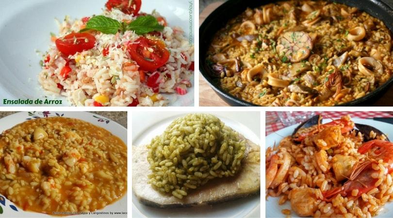 10 recetas con arroz