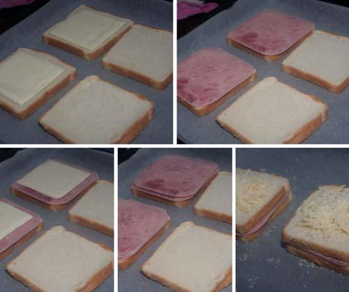 paso a paso sandwich mixto gratinado