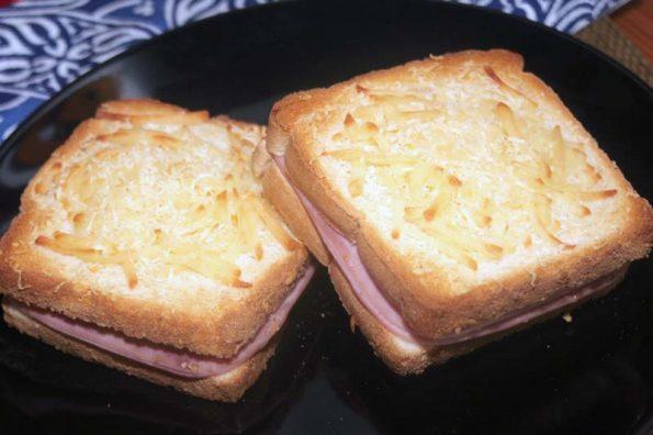 receta sandwich mixto gratinado