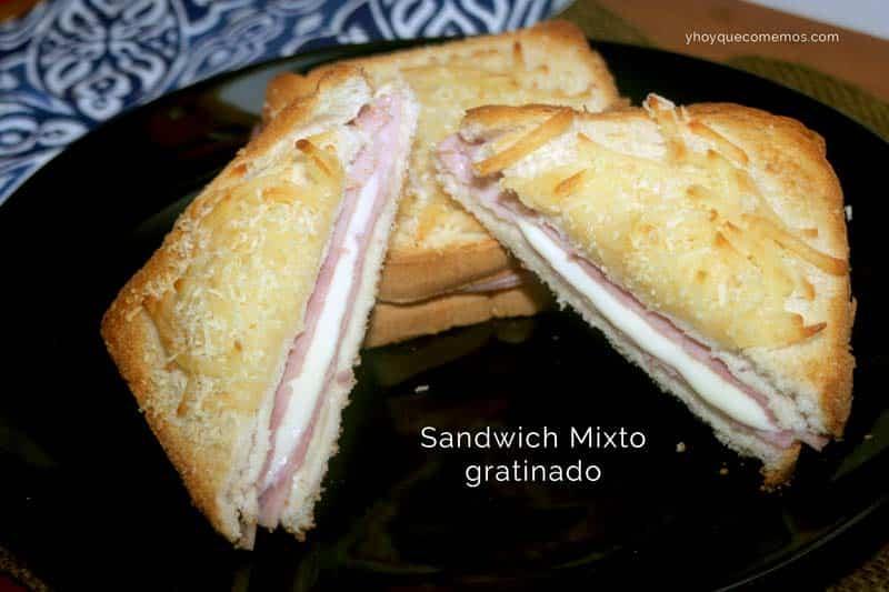 sandwich mixto gratinado