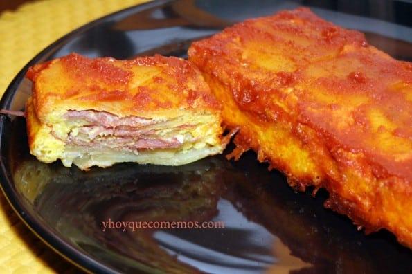 pastel de patatas y jamon
