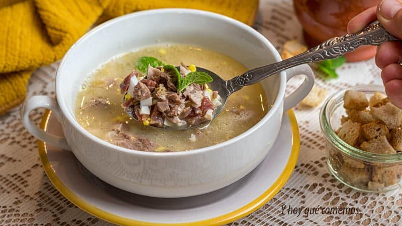 receta paso a paso como hacer sopa de picadillo