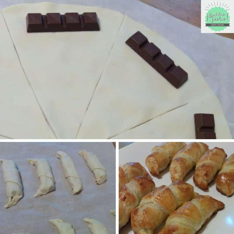 receta croissants de kinder bueno