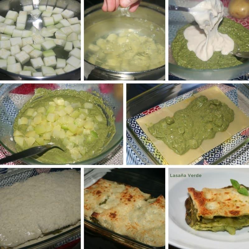 receta lasana verde