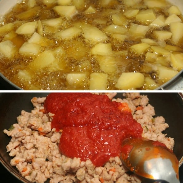receta patatas boloñesa