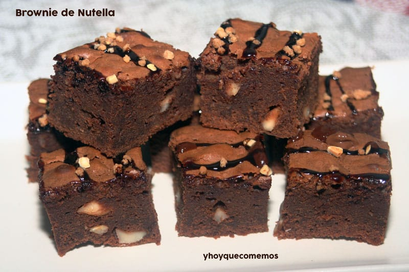 brownie de nutella o nocilla