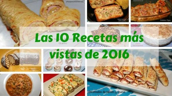 las 10 recetas mas vistas de 2016