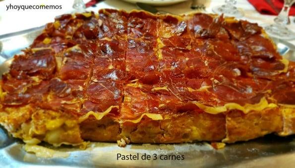 pastel de 3 carnes