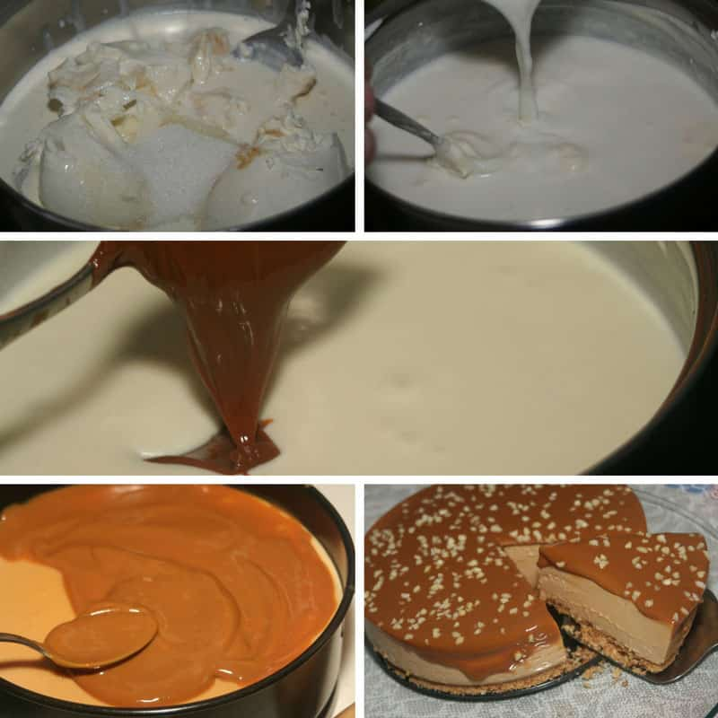 receta de tarta de queso y dulce de leche