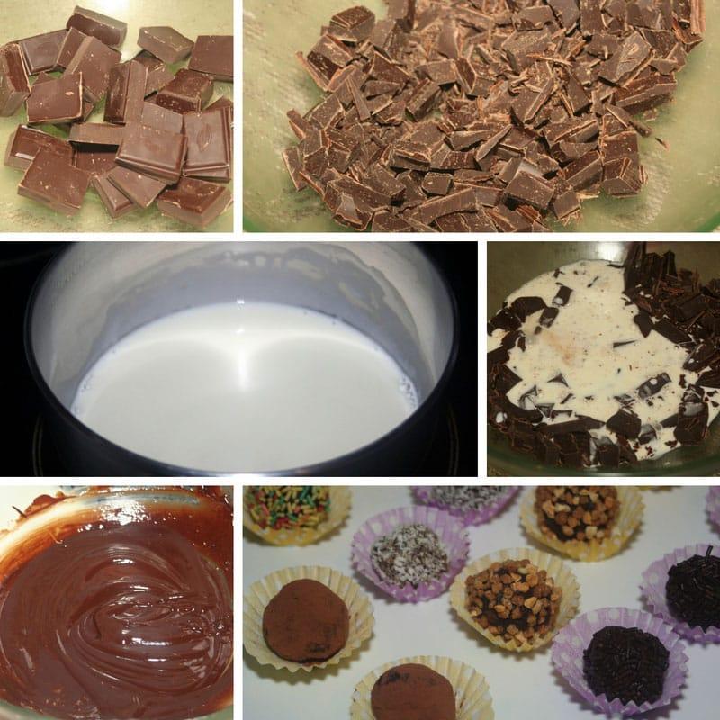 receta trufas de chocolate caseras