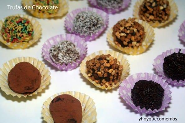 trufas de nata y chocolate