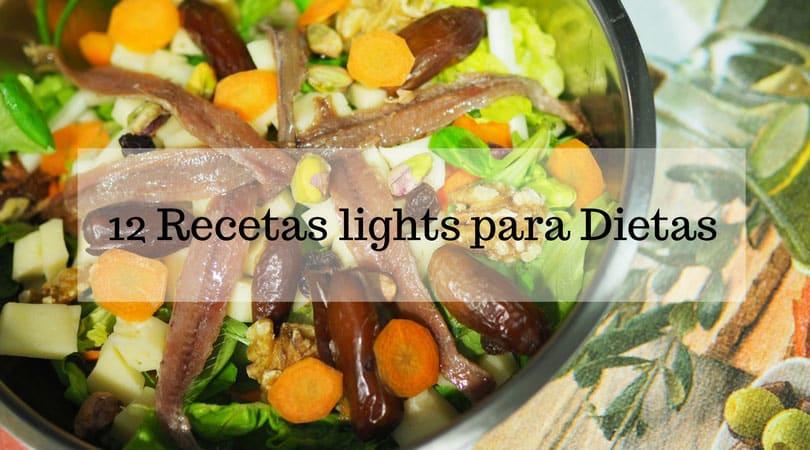 12 recetas lights para dietas
