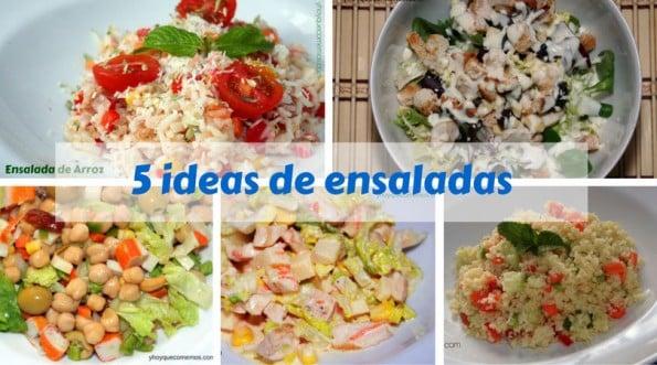 5 Ideas de Ensaladas - Recetas de cocina fácil - Y hoy que comemos