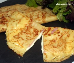 crepes de jamon y queso