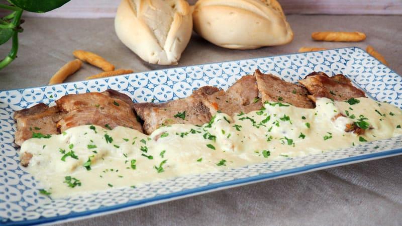 receta de carne de lomo con salsa de puerros