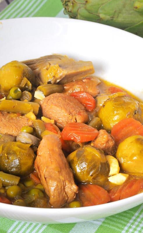 como hacer paso a paso menestra de verduras con pollo receta saludable