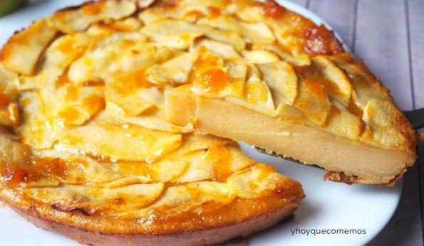 como se hace la receta de tarta de manzana rapida y facil