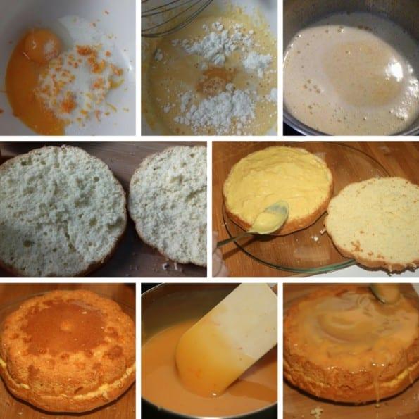 receta bizcocho con crema de naranja 2