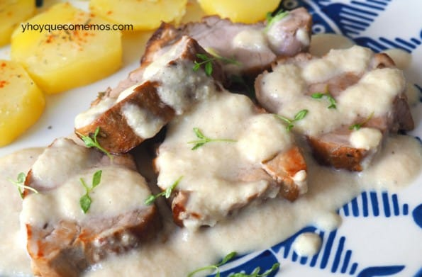 solomillo en salsa de almendras receta 2