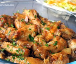 alitas de pollo al ajillo receta 1