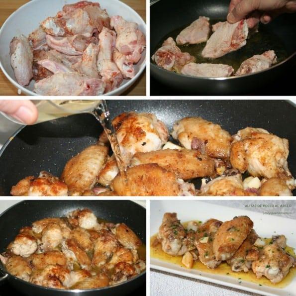 receta alitas de pollo al ajillo