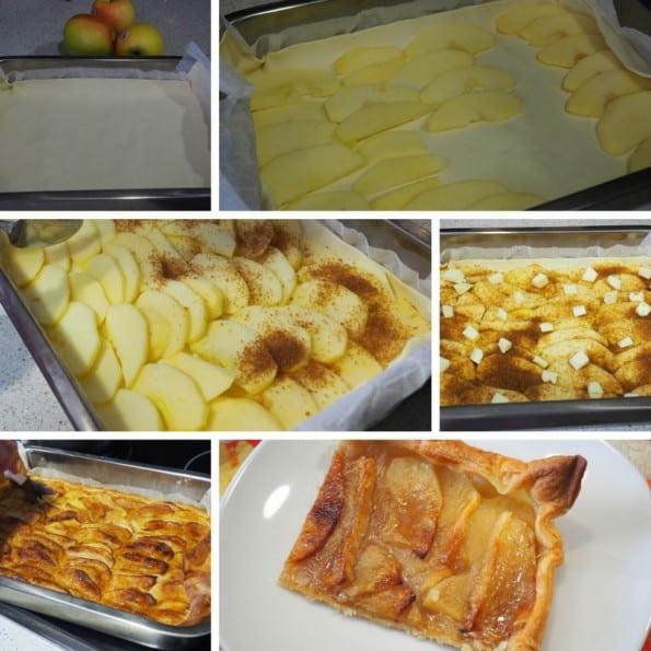 receta hojaldre de manzana