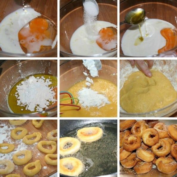 receta roscos de flan paso a paso