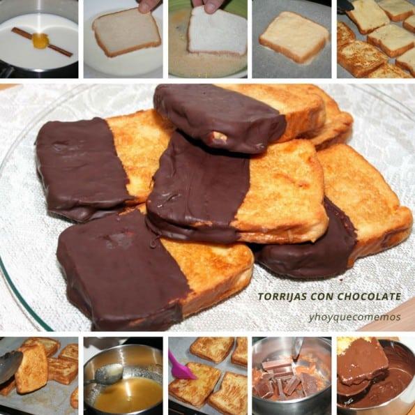 receta torrijas con chocolate