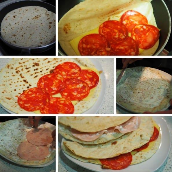 receta tortillas de trigo rellenas