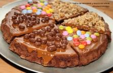 tarta de brownie y dulce de leche