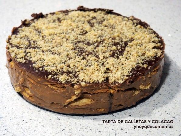 tarta de galletas y colacao
