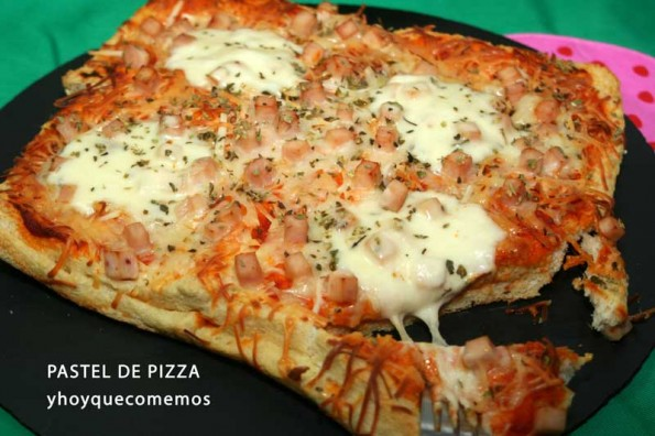 pastel de pizza de pan de molde (2)